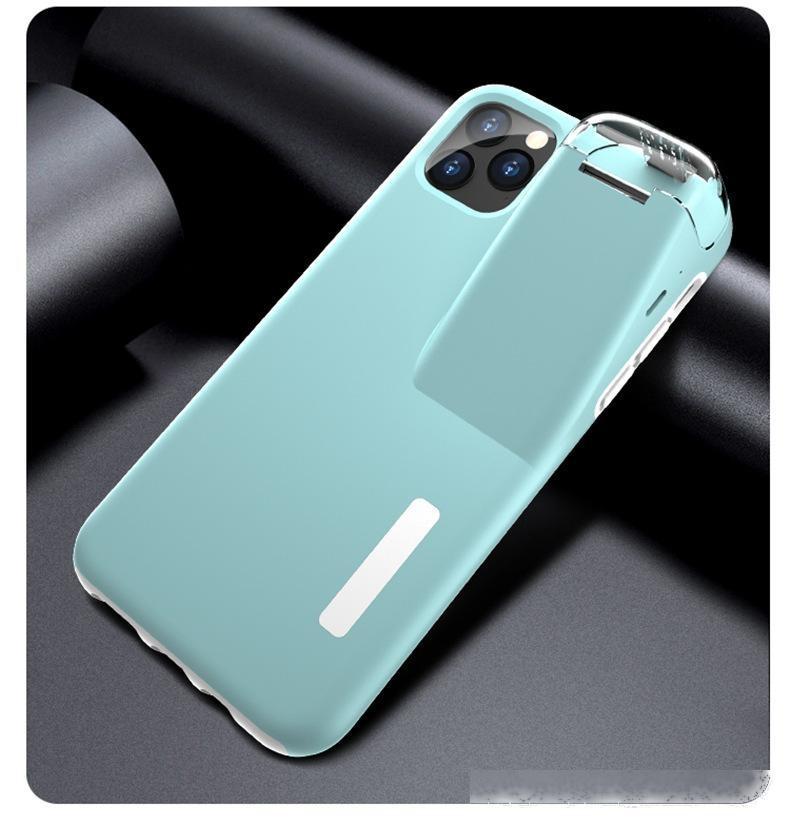 Para el caso del iPhone con el cargador de los auriculares TPU PC Funda móvil Hybrid con cargador de auriculares Caja de teléfono de diseño a prueba de golpes