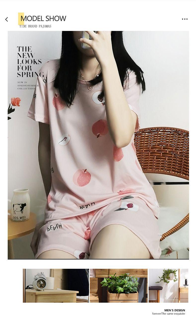 Pyjamas frauen sommer eis seide rosa anzug dünne kühle milch seide kurze hülse shorts zwei stück seide set