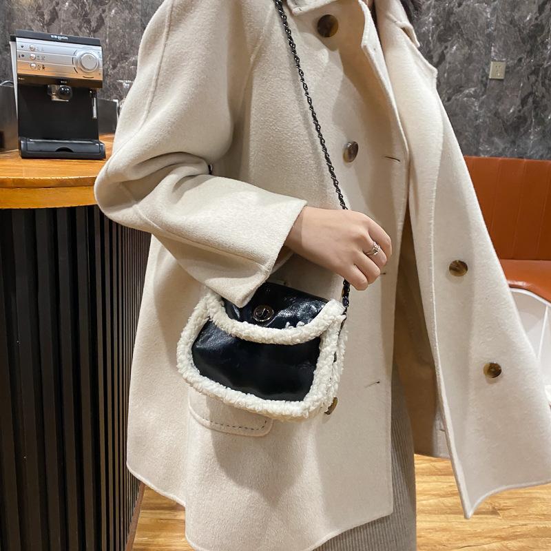 2020 mulheres saco de cintura moda bumbag para mulher crackle cinto saco senhora saco de corpo saco saco banano com cabelo de cordeiro