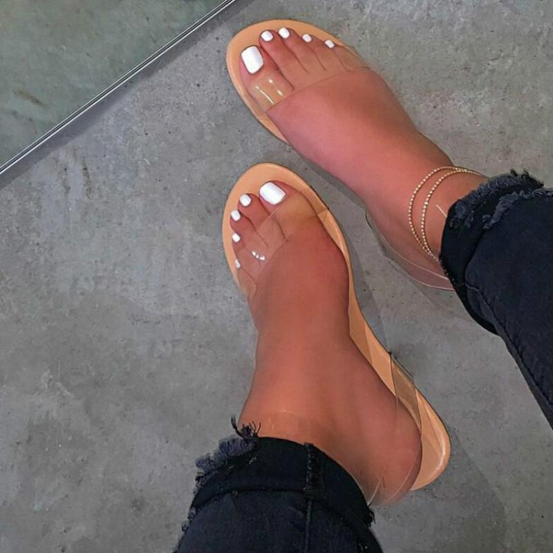 Mujer Cross Strap Sandals 2021 Ladies Transparent Women Weight Pess Poiss Femenino Casual Mujeres Comfort Beach Shoes Tallas grandes