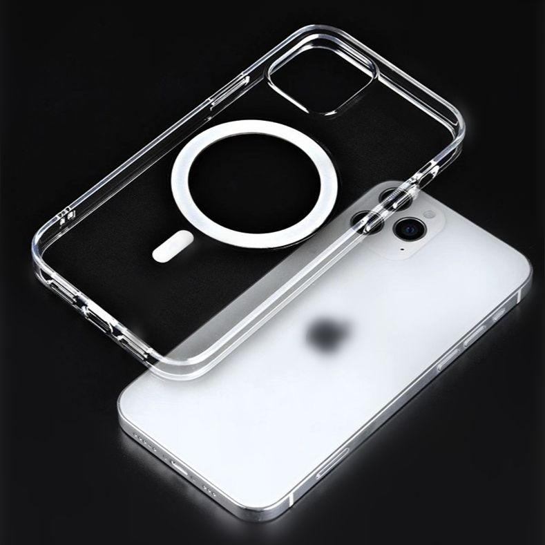 Yumuşak Silikon Magsaafe Kılıf iphone 12 pro max 12 mini mag güvenli koruyucu kapak kabuk temiz yerleşik manyetik daire