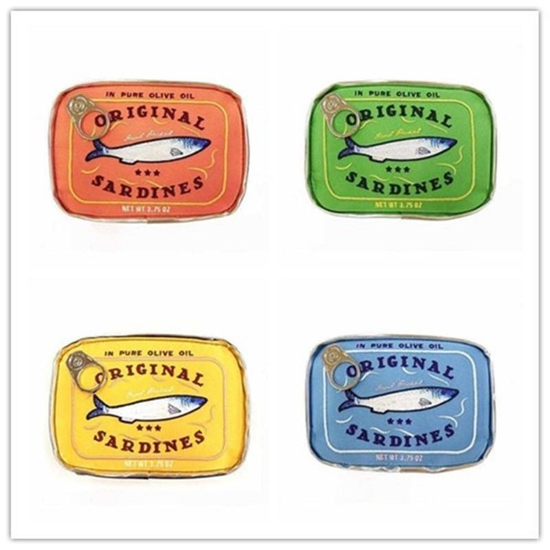 Neue Retro-Stil Taschen Dosen Sardinen Make-up Kosmetik-Tasche Schöne Tierzimmer Tragbare Reisetasche Frauen Handtaschen 201201