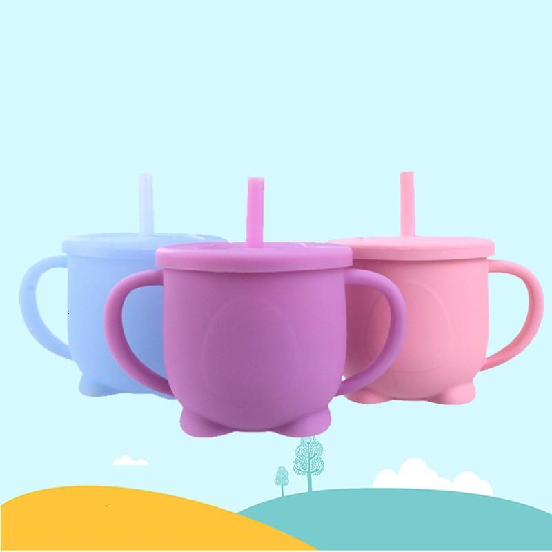 Child Silicone Sippy 160ml Learning Drinking LeakProof Cup Bottle Baby Water Drink Mug WSJT