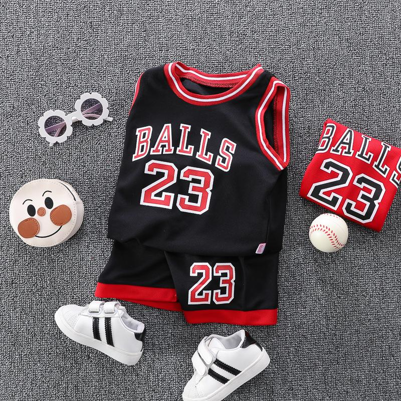 Kindersommerweste Set Atmungsaktive dünne Basketball-Baby-Kleidung Sport 2020 Neue Jungs-Trikots