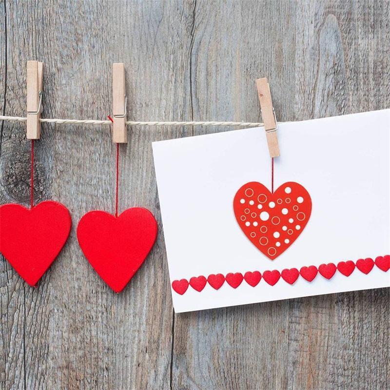 Liebe herzförmige Aufkleber 8 Muster 1 Zoll rot Klebstoff Etikett Valentinstag Dichtungsaufkleber Hochzeitsfeier liefert Neue 4YH J2