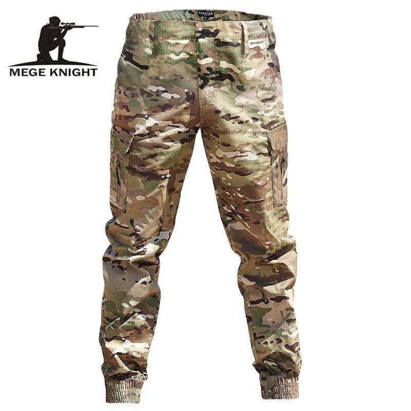 MEGE Marque Mode Streetwear Casual Camouflage Jogger Pantalon militaire tactique Hommes Cargo Pantalons pour Dropshipping Y201123