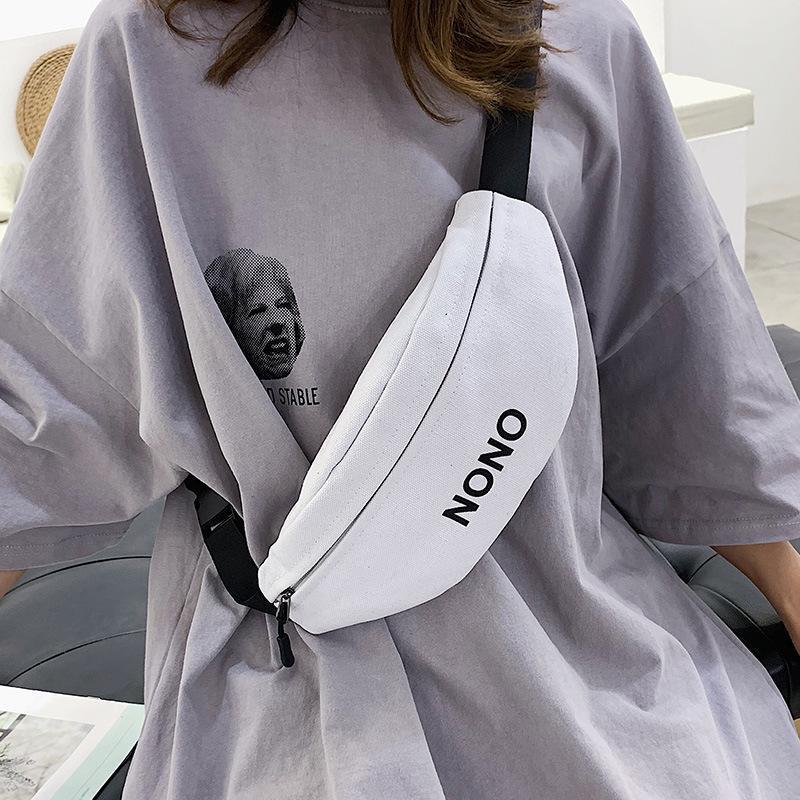 Bolsa de cintura de la cintura de la cintura de las mujeres Nuevo 2020 bolso Banana Cofre lienzo nuevo material HOP LDUS VKUXR