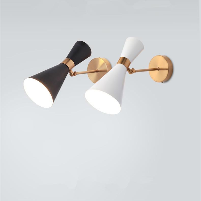 Modern LED de parede interior montado lâmpada metal 2 cabeças ajustável corredor escada vanity luminária luminária casa de banho parede home deco