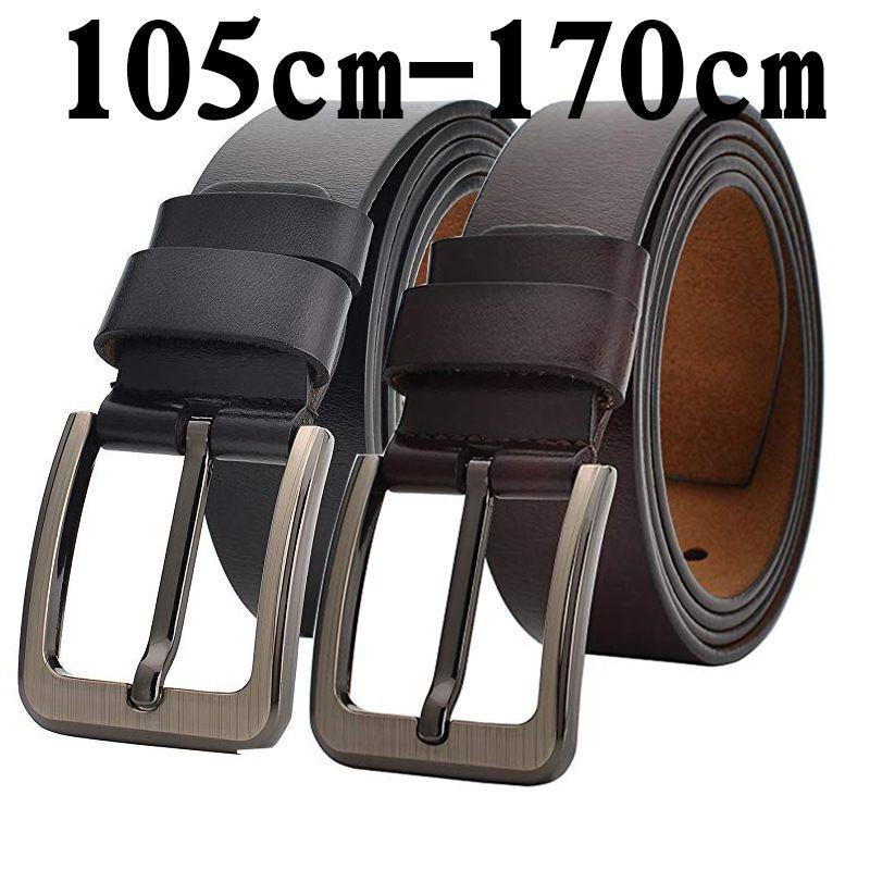 جلد طبيعي حزام الرجال 140 150 160 170 سنتيمتر كبيرة الحجم فاخر مصمم أحزمة الرجال سبليت الجلود عالية الجودة حزام الخصر 201124