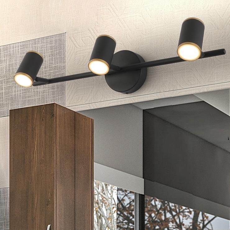 Mur d'appliques murales LED Lampe acrylique commode miroir Vanity Vanity Fixation de la lumière de la salle de bain Blanc / Black Shell