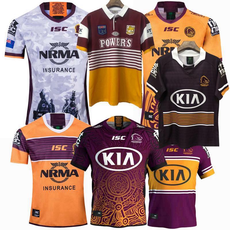 Yeni 1992 1995 2018 2019 2020 2021 Brisbane Broncos At Hatıra Sürümü Rugby Formalar NRL Rugby Ligi Jersey 19 20 21 Gömlek