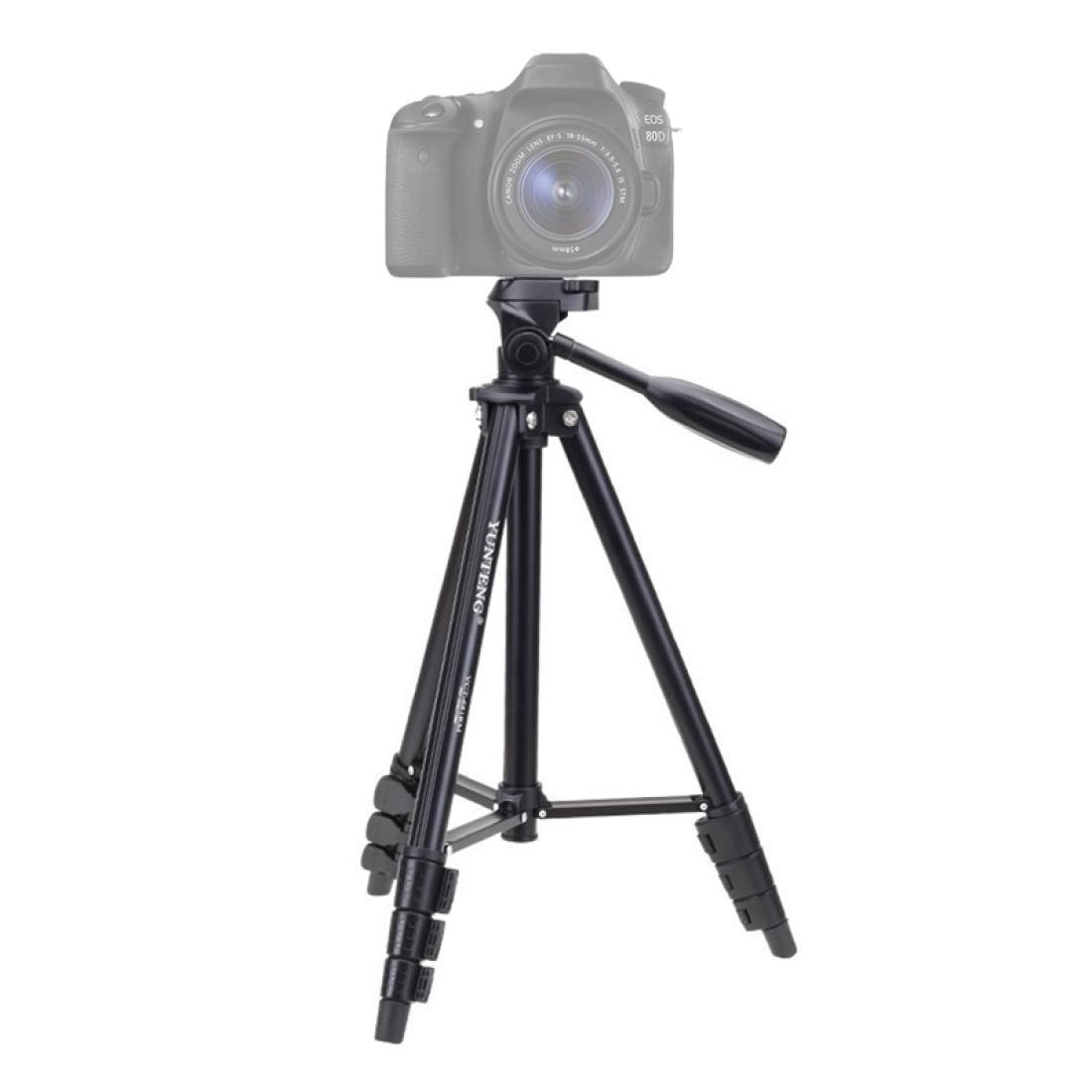 Yunneng VCT-681 138cm SLR Micro-SLR Digitalkameras Stativständer 4-Querschnitt Faltende Aluminiumbeine für Canon Nikon Panasonic PE