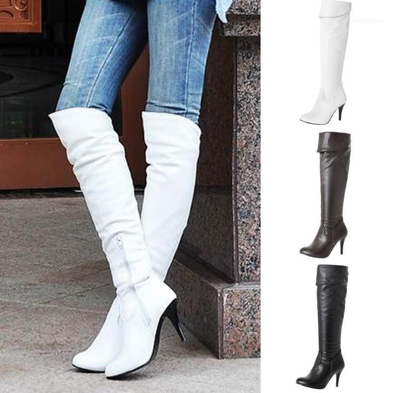Сексуальные женщины тонкий высокий каблук над колено снежные сапоги мода снег длинные ботинки теплые осенние зимние туфли на улице рабочая обувь леди1
