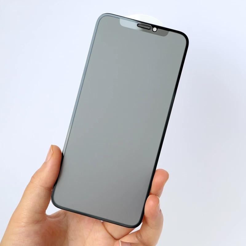 Matte Cerâmica Protetor Filme Macio Anti-Peeping 9h Capa Completa para iPhone 12 11 Pro Max Xs XR X 8 Plus Não Vidro Temperado