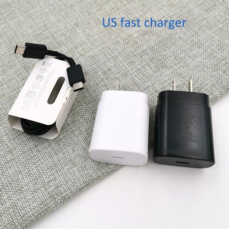 Cargador Super Fast USB-C para Samsung Galaxy Note 10 Note10 Plus Note10 A90 A8S Cargador de pared de carga rápida