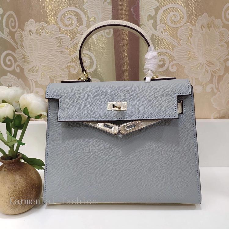 Crossbody Luxurys Designers Genuine Bags Real Women Leather Cowhide Fashion Bags Two-tone Handbags Female Classic Shoulder Totes Purses Luqg