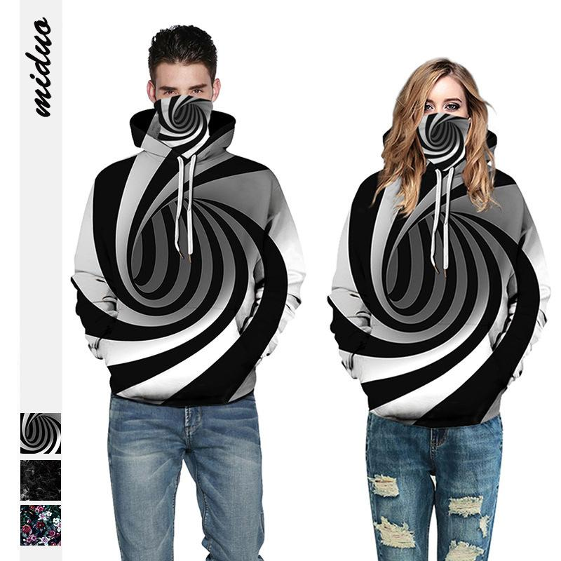 3Colour S-3XL 2021NEW 3D 스웨터 여성 가을 / 겨울 느슨한 커플 의류 패션 야구 유니폼 탑 풀오버 37577754632495