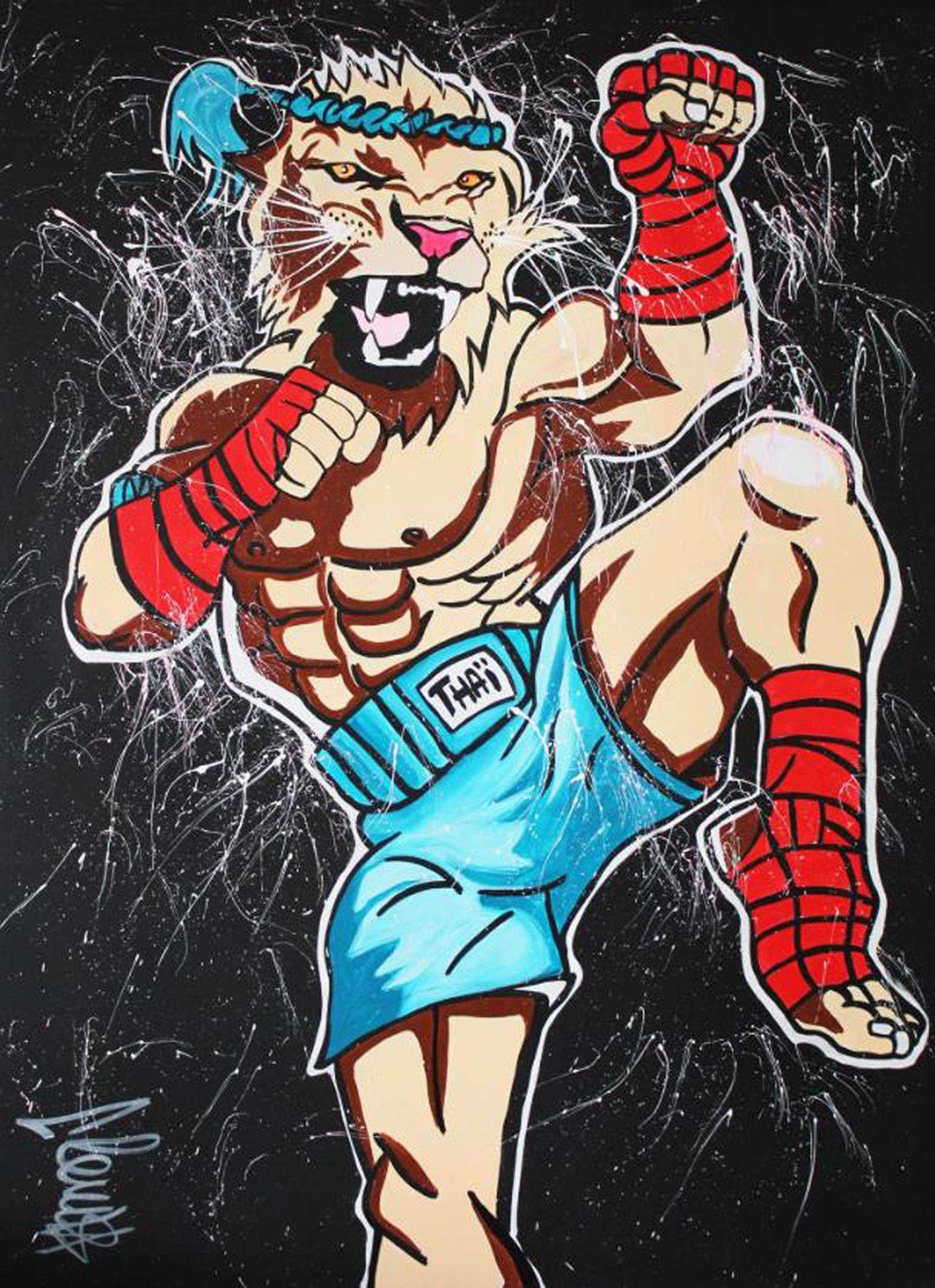 Clem $ Thai Lion Home Украшение Домашнего Дома H HD Печать Маслом Картина на холсте Настенное искусство Холст Фотографии 200