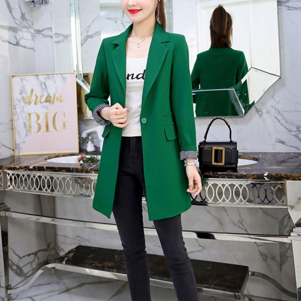 OL Blazer Suit 2020 Bahar Sonbahar kadın Blazer Bayanlar Için Yeni Ceketler Avrupa Ince Yaka 3 Renkler Pluse Boyutu Blazer X1214