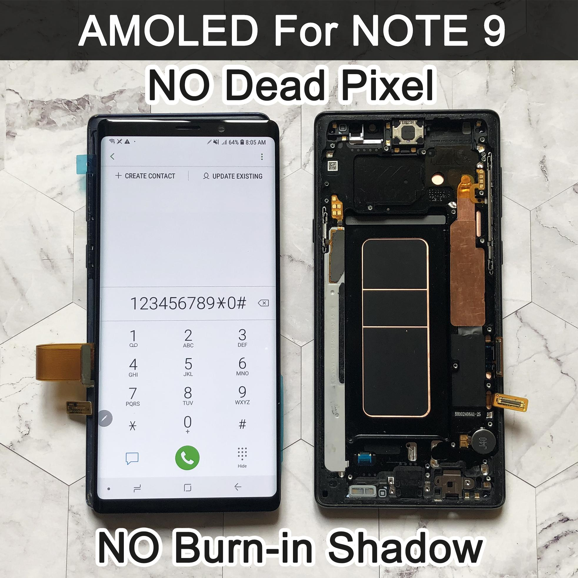 ORIGINAL AMOLED 6.4'' LCD for SAMSUNG GALAXY Note 9 lcd For Note9 N960F N9600 N960N Display Touch Screen Digitizer Assembly