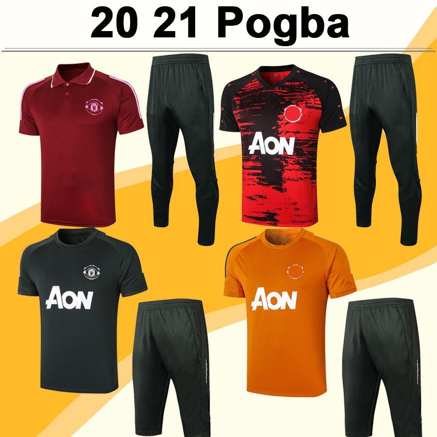 20 21 POGBA Polo Mens Soccer Shirt Kit RASHFORD MATA MARTIAL LINGARD MATIC CARRICK CAVANI Black White Football Jerseys Short Sleeve