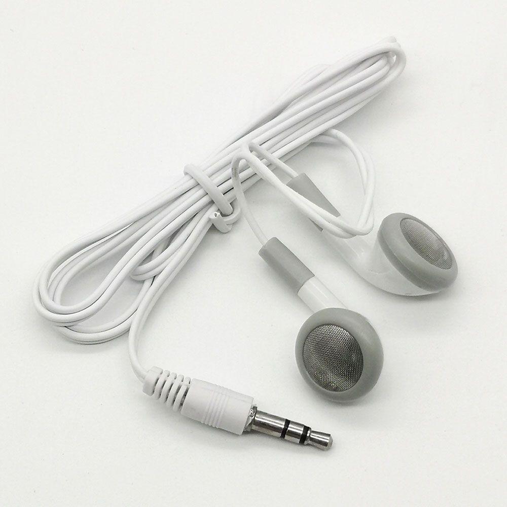 100 teile / los Günstigster Einweg-Kopfhörer Niedrige Kosten-Ohrhörer 3.5mm Musik-Kopfhörer-Headset MP3 MP4 für Handy