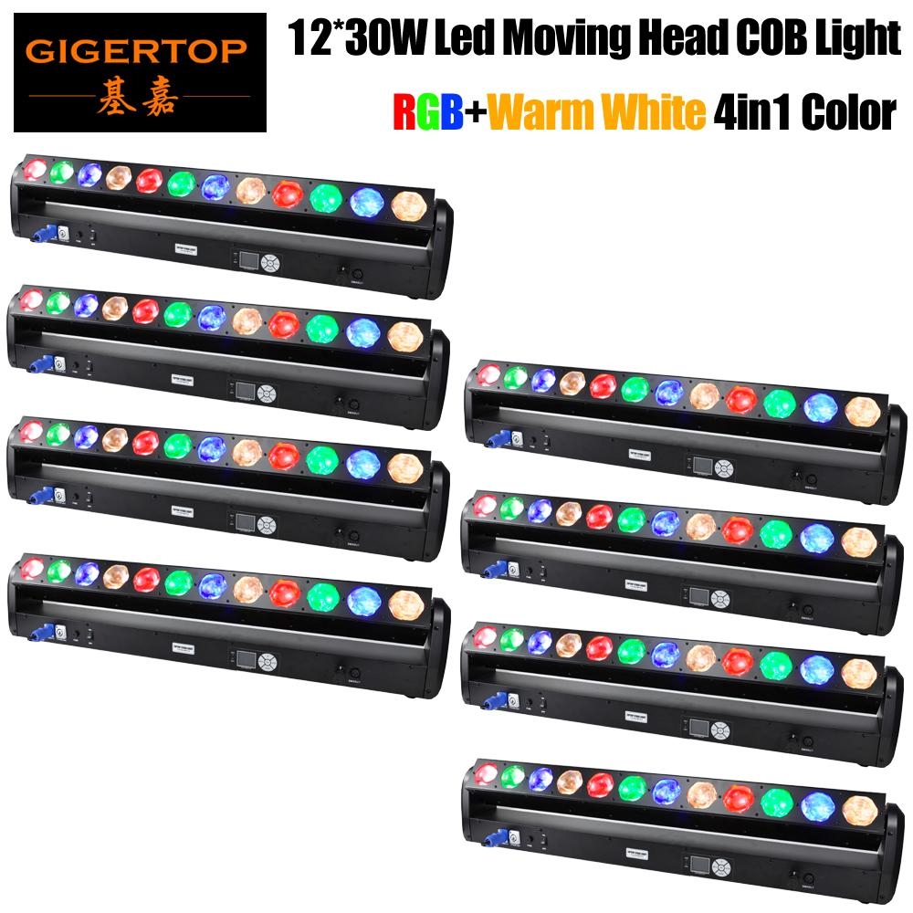 Freeshipping 8 Units Led Pixel Beam Bar Light Moving Head Rotation 12pcs 30W RGBWW 4-в-1 LED с подвесным крюком 3 Degree стекло объектива