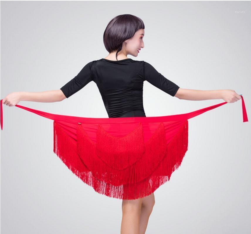 2020 NOUVEAU Style Tassels Binder triangulaire Yi Pian Quin jupe adulte Vêtements de danse latine Vêtements de la hanche Femme Skirt1