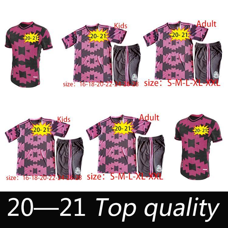 20 21 Top Quality Mexico Futebol Jerseys Away H.Lozano Dos Santos Chicharito 2020 2021 National Team Sports Futebol Uniforme Camisas