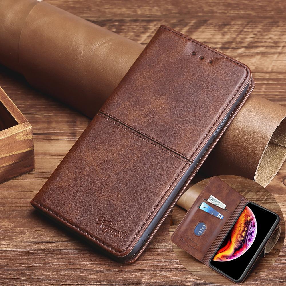 Lüks Cüzdan Deri Kalite Iphone Kılıf Artı 11 12 Pro XR XS Max X SE Yumuşak TPU Flip iphone12 Kapak