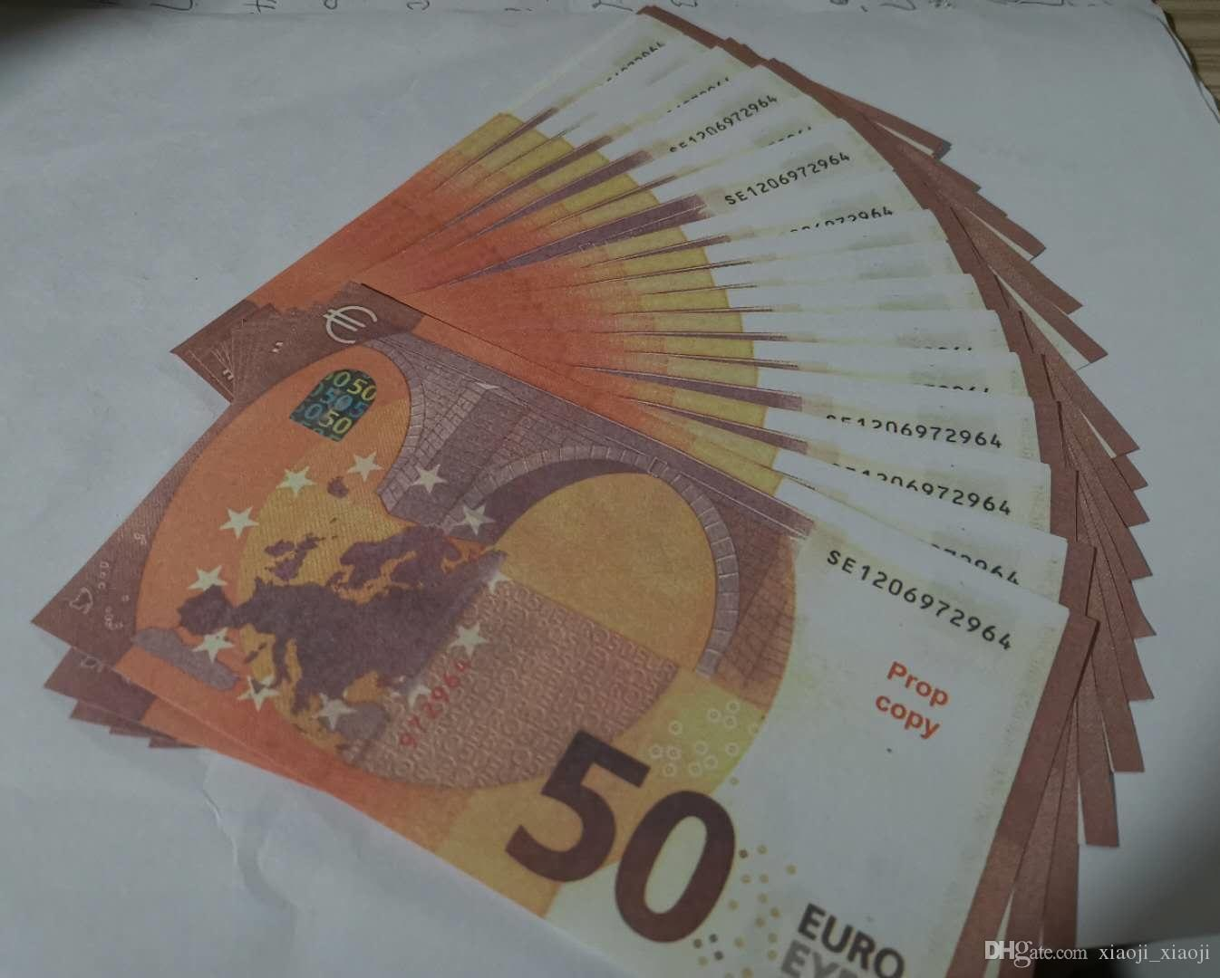 Prop Währung Euro 50 Kopie Filme Spielzeug Fake Geld Werkzeug Lernen Kinder am besten für realistische Video EQDFN