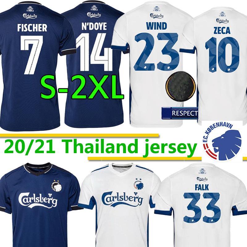 2020 2021 Danish Copenhagen Fischer Fussball Trikots 20 21 FC Home Away Sigurdsson Zeca N'Doye Skov København Football Shirts Uniformen S-2XL