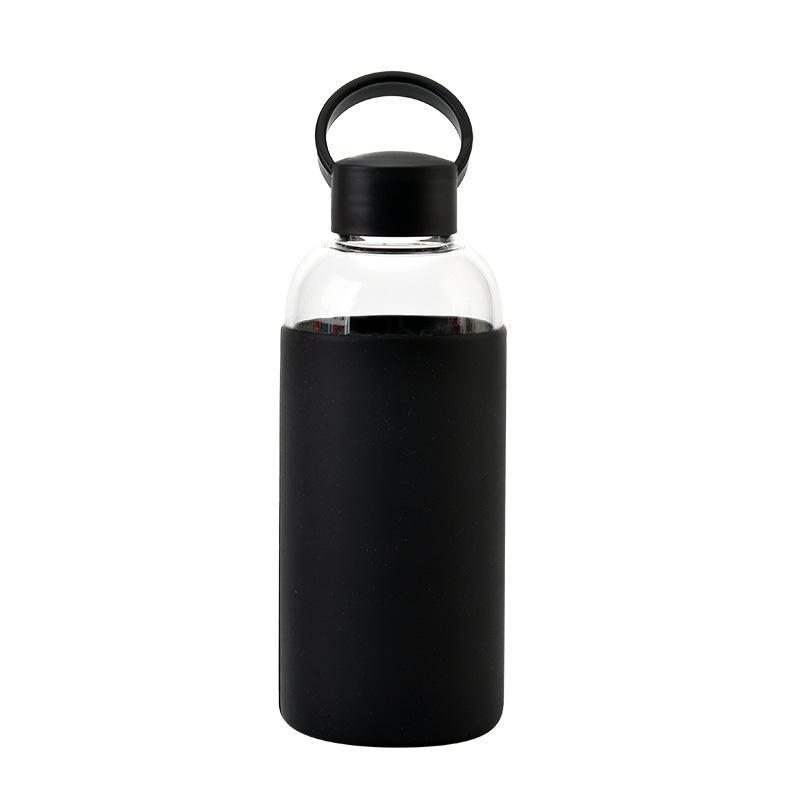 1 шт. Спортивные портативные водяные чашки кружка с силиконовым рукавом для студенческих пар высокого боросиликатного стекла