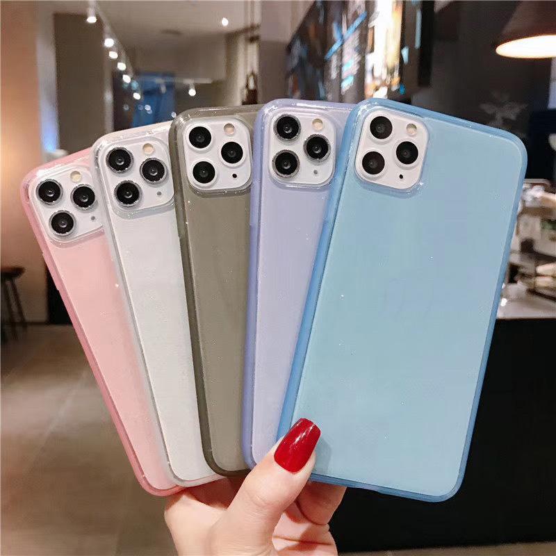 Custodia per cellulare color caramelle Case antiurto Neon Soft TPU Custodia Chiaro per iPhone 12 11 Pro Max XR 8 Plus