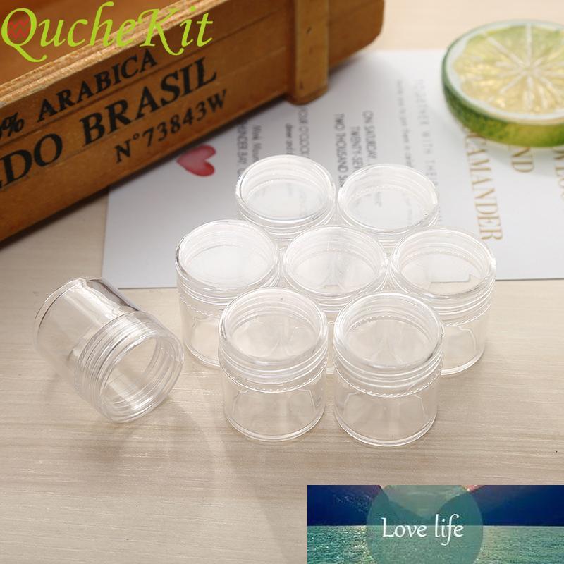 50pcs 5g Boîte de maquillage cosmétique de cosmétique en plastique 5G Boîte de rangement rechargeable transparent visage de la crème de crème pour la crème d'art