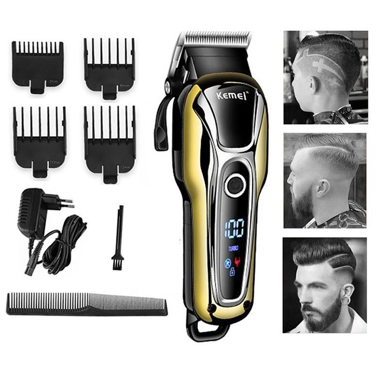 Barber Shop Hair Clipper Professionnel Tondeuse pour hommes Barbe Coupeur électrique Coupe de cheveux Coupe de cheveux sans fil