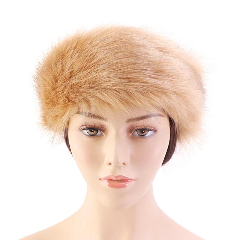 Mulheres Faux Fur Winter Headband Mulheres Luxuoso Moda Cabeça Envoltório Earanharas De Pelúcia Capa De Cabelo Acessórios 20pcs T1i3047-1