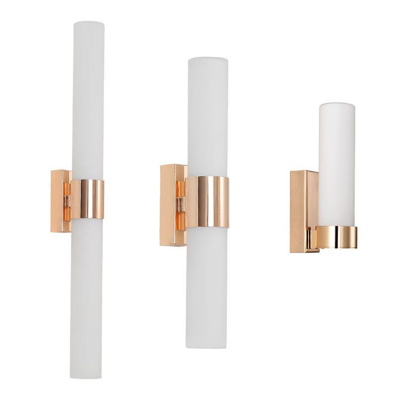 İskandinav led duvar lambası Basit yatak odası başucu lambası kare banyo aynası farlar oturma odası lambaları duvar ışıkları ev için