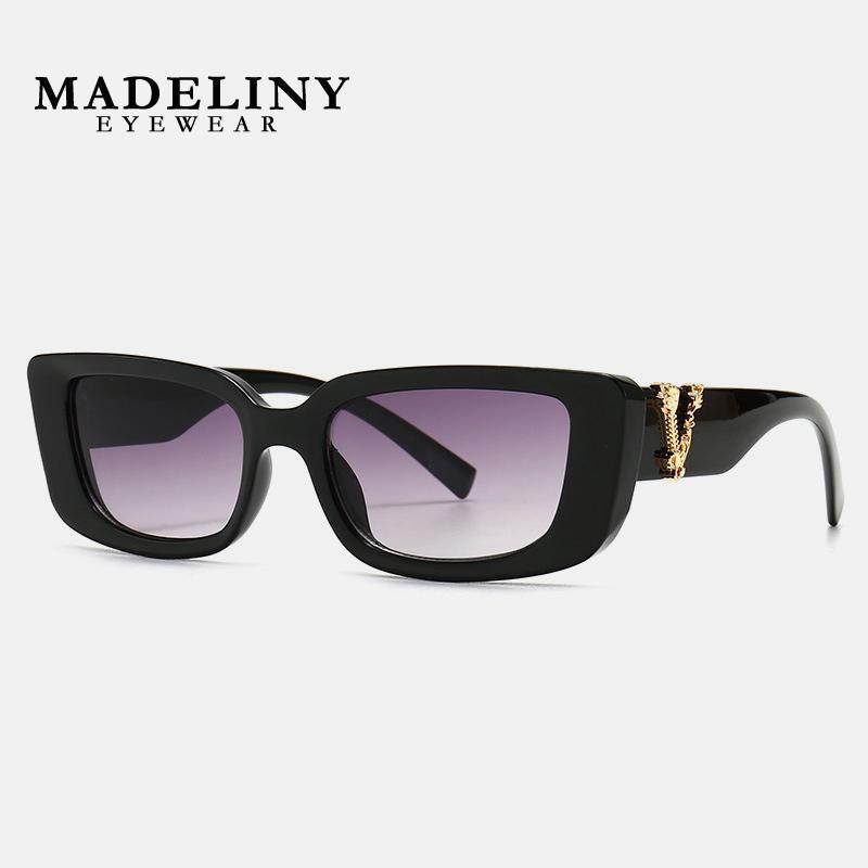 Madeliny New Mode Vintage Lunettes de soleil Vintage Designer Retro Sunglass Sun Lunettes Femmes Ma176 Marque Lunettes de lunettes Femelle Rectangle Ewqva