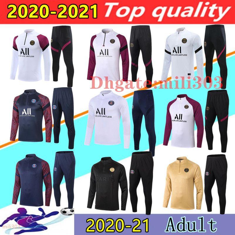 20 21 PSG uomini tuta Parigi calcio tuta giacche Survêtement 2020 2021 Paris psg maillot de foot giacca Mbappe NEYMAR JR calcio da jogging tracksuit