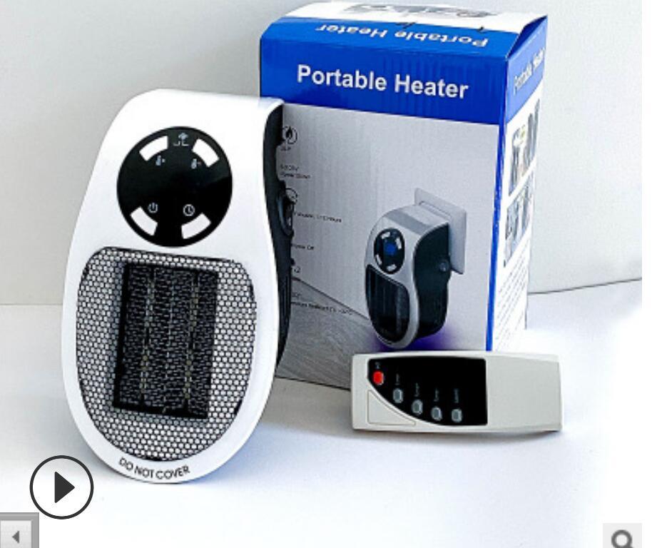 Outlet Mini calentador de aire eléctrico 110-220V Potente ventilador cálido ventilador de calentador rápido para la estufa de oficinas en el hogar Radiador de la sala más cálida