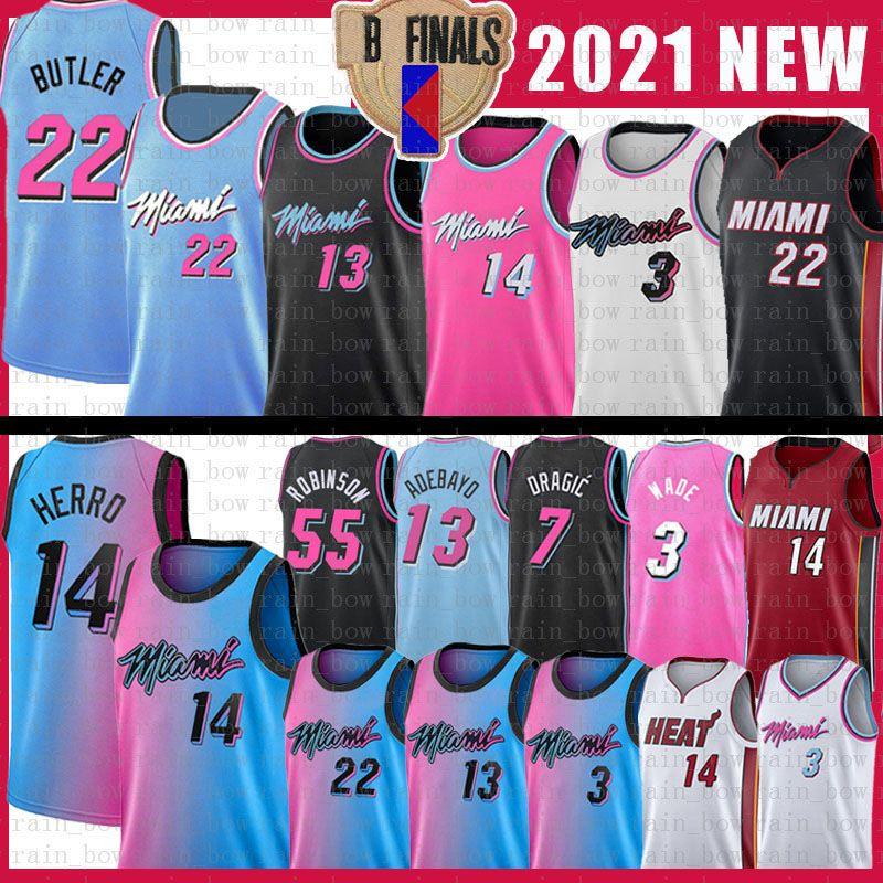 Jimmy Tyler Butler Herryane MiamiCalor22 Dwayne 3 Wade Basketball Jersey Bam Goran Adebayo Kendrick Duncan Duncan Robinson Nunn