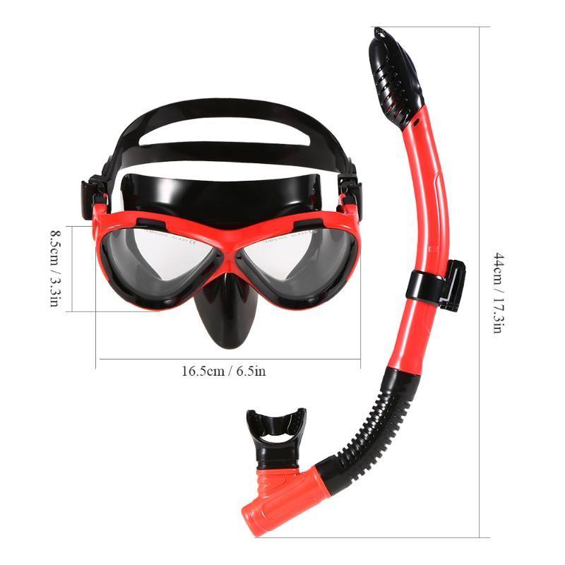 Masques de plongée Enfants Scuba Masque Tube Set Snorkeling Lunettes Lunettes Paysage Easy souffle Son Snorkel