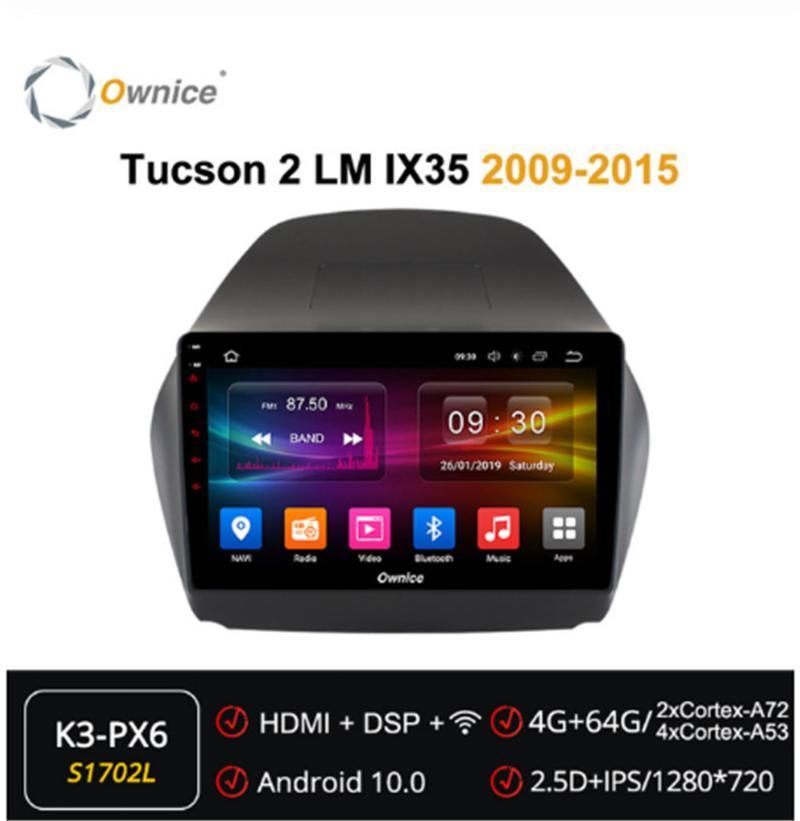 Автомобильный аудио собственность 2din Android 10.0 Octa Core DVD-плеер Автоматический радиосвязь Navi Forhyundai Tucson 2 LM IX35 2009 - 2021 мультимедиа DSP 4G