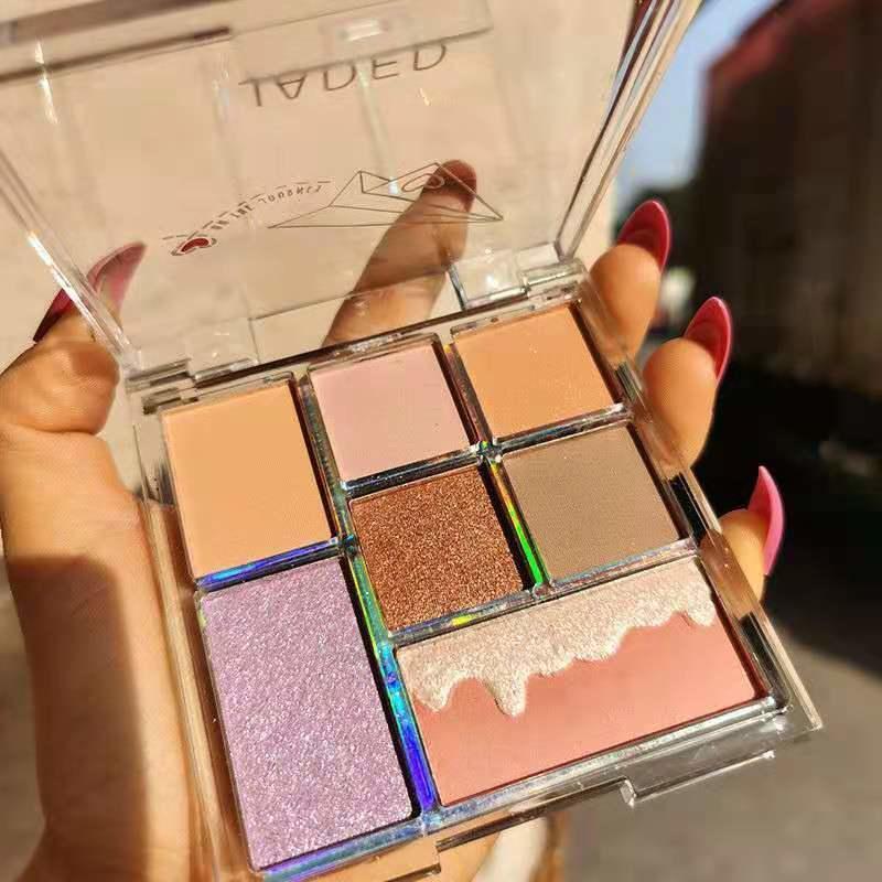 7- Color Shimmer PALYHADOW paleta olho maquiagem glitter perolado fosco cor de cor olhos à prova d 'água de longa duração cosmética tslm2