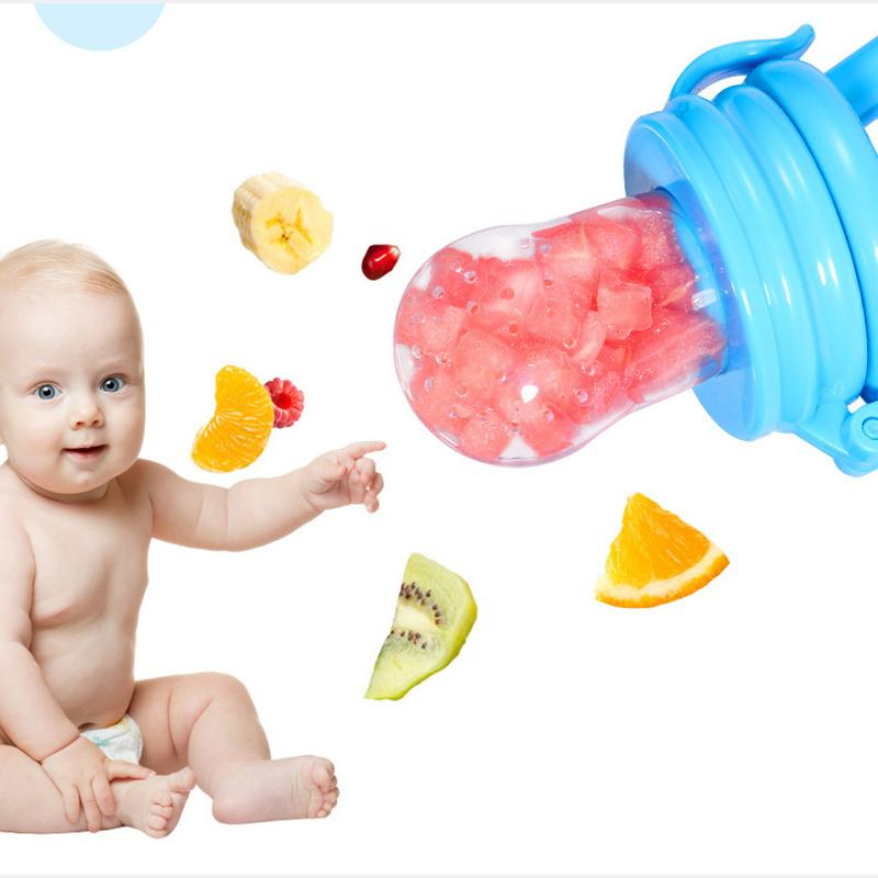 Baby Food Feeder Fruit Feeder Pacifier Infant Teething Toy Teether Food Grade Silicone Pouches For Toddlers And Kids DHL Free Freight