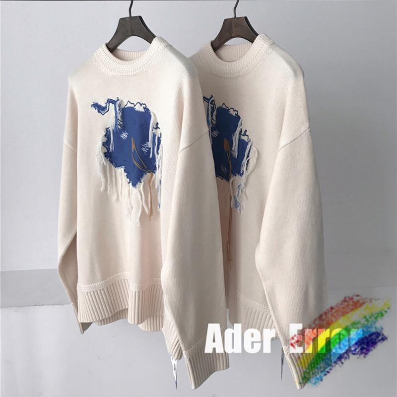 Blaue Graffiti Stickerei Quaste Pullover Frauen Männer 1 Hohe Qualität Fleece gestrickt CrewNeck