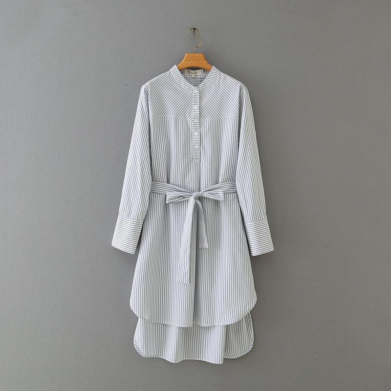 Boyutu XL-4XL Artı Kadın Çizgili Elbise Uzun Zarif Boyun Etrafında Maxi Elbiseler FY8D