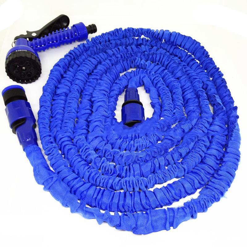 50FT-100FT Garden Hose Expandable Magic Flexible Water Hose EU Plastic Hoses Pipe With Spray Gun To Watering Car Wash Spray