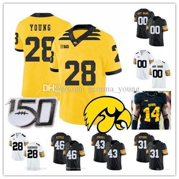 NCAA 2021 Iowa Hawkeyes Kolej Forması Futbol Ihmir Smith-Marsette Spencer Petras Chauncey Golston Seth Benson Tyrone Tracy Jr. Beyer 4XL